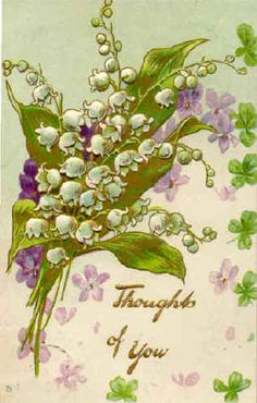 Vintage Lily of the Valley postcard