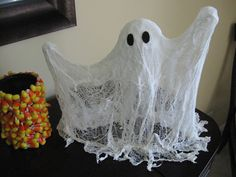 cheese cloth ghost craft, cheese cloth ghost tutorial, cheese cloth ghost, craft, crafts, crafting, tutorial, halloween, halloween craft, easy, best halloween craft, best ghost craft, holiday craft