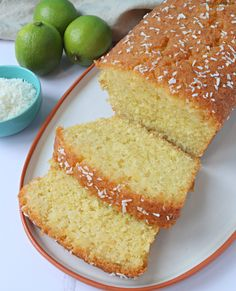 Coconut and Lime Loaf Cake - The Baking Explorer Loaf Tin Recipes, Baking Recipes, Savoury Recipes, Baking Ideas, Lime Cake Recipe, Lime And Coconut Cake Recipe, Coconut Cake Easy, Coconut Cakes, Recipe Using Limes
