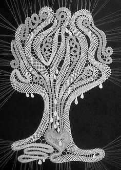Lace Knitting, Crochet Lace, Crochet Edgings, Crochet Motif, Crochet Shawl, Bobbin Lace Patterns, Loom Patterns, Bobbin Lacemaking, Lace Art