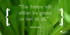"""The future will either be green or not at all."" – Bob Brown"