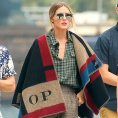 OP looks stellar in a Burberry Prorsum blanket. See the full look now!