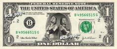 The Osos on Real Dollar Bill - Collectible Celebrity Cash Money