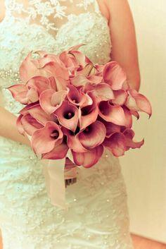 Copo de leite Pink Bouquet, Special Day, Wedding Bouquets, Marriage, Weddings, Bridal, Unique, Plants, Red