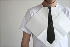 DRESS FOR DINNER NAPKINS | BY HECTOR SERRANO~~ I have a couple boys who would love these!