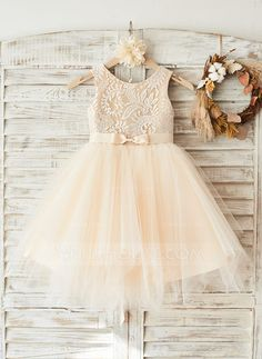 [US$ 61.99] A-Line/Princess Knee-length Flower Girl Dress - (010108312)