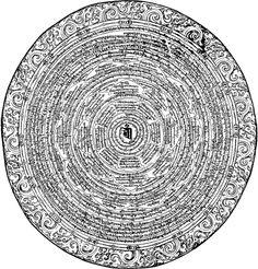 Chakra of Sitatapatra (tib. DukKar) removing obstacles and protecting from negativity 2 . Tibetan Mandala, Tibetan Art, Nepal, Kali Mantra, Buddhism Symbols, Mystic Symbols, Vajrayana Buddhism, Mandala Painting, Buddha Painting