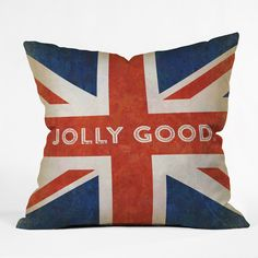 Anderson Design Group Jolly Good British Flag Throw Pillow | DENY Designs Home Accessories