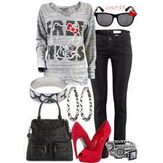 """""""Hello Kitty"""" by srose38 on Polyvore"""