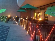 In May of 2014 we brought FIRE to the patio!!! South Hill Round Table Pizza now has outdoor seating with 4 Firepit tables!  Come check it out!!!!