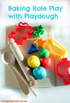 baking role play with playdough