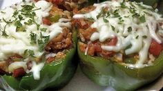 Divas Can Cook – Cheesy, Meaty Stuffed Bell Peppers