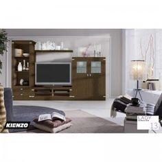 Mueble modular de salón fabricado en madera maciza con acabados en color madera o lacados de la máxima calidad con incrustación de acero opcional, podrás componer el salón a tu gusto, no solo con estos modelos si no combinado con los módulos disponibles en esta colección, ademas colorea