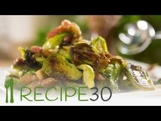 Caramelised Brussels Sprouts With Pancetta - Easy Meals with Video Recipes by Chef Joel Mielle - Vegetable Side Dishes, Vegetable Recipes, Side Recipes, Easy Recipes, Keto Recipes, Tomato Pasta Sauce, Incredible Edibles, Recipe 30, Quick Easy Meals