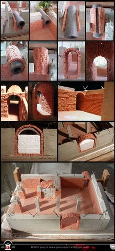 Domus project 9: Barrel vault with clay bricks  http://pietrasupietra.blogspot.com/2012/01/construction-09-barrel-vault.html  The Domus project is the construction in scale 1:50 of an imaginary medieval palace. It's made of clay, stones, slate, wood and other construction materials in the style of rich genoese buildings from the middle of XIV century.