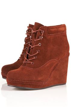 TopShop Andreas Lace Up Wedge Boots l wantering.com