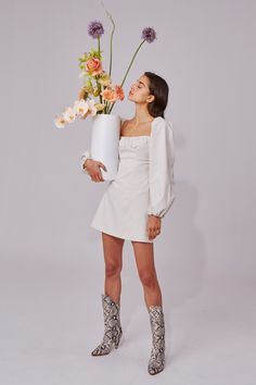 ASK ANYTHING LONG SLEEVE DRESS - $180 #theradicalblog #winteroutfits #cmeocollective Dress Collection, Fit And Flare, New Dress, Dress Outfits, Winter Outfits, Perfect Fit, Dresses With Sleeves, Sleeve Dresses