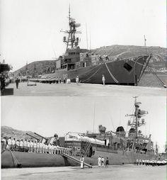 D-42 Roger de Lauria de la Armada Española . Año 1969.
