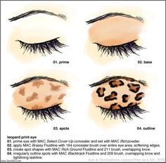 Amazing Cheetah Eyeshadow Tutorial...You Can Substitute MAC Products For Any of Your Favorite Products. Try Different Color Combinations As ...