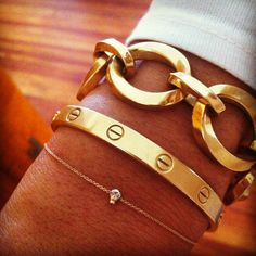 I have been swooning over the Cartier 'Love Bracelet' since I saw Kourtney Kardashian with one in 2007! Gimme. Now.