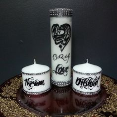 SAFE TO BURN!    This unique and elegant candle set makes the perfect centerpiece and a thoughtful gift!  Our previous customers loved it so much that