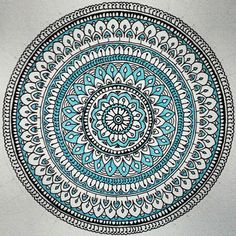 Hand drawn with copic and staedtler fineliner and alcohol markers. Mandala Art Lesson, Mandala Doodle, Mandala Artwork, Mandala Canvas, Mandala Drawing, Motif Art Deco, Doodle Art Designs, Mandala Tattoo Design, Colorful Drawings
