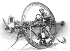 """steampunk-depot: """"For the discerning Gentleman in the need of hastening his arrival, The D'Harlingue Monowheel will cut though the wind, as pedestrians move aside. Soap Box Derby Cars, Monocycle, Transporter, Vintage Motorcycles, Concept Motorcycles, Small Cars, Car Wheels, Retro Futurism, Dieselpunk"""