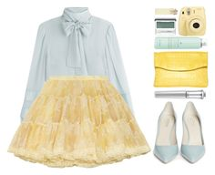 """""""#1139 Anita"""" by blueberrylexie ❤ liked on Polyvore featuring RED Valentino, Giorgio Armani, Nancy Gonzalez, Fuji, Drybar and Clinique"""