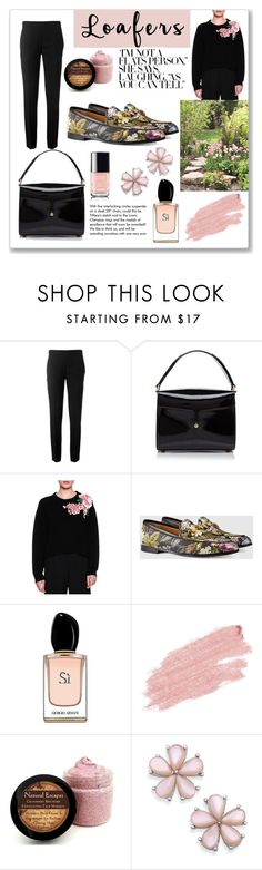 """""""Fall Footwear Trend: Loafers"""" by maria-charp ❤ liked on Polyvore featuring Chloé, Marc Jacobs, Dolce&Gabbana, Gucci, Armani Beauty, Jane Iredale and Tiffany & Co."""