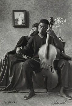 GORDON PARKS (1912 - 2006) Music--That Lordly Power. Silver print, 1993.