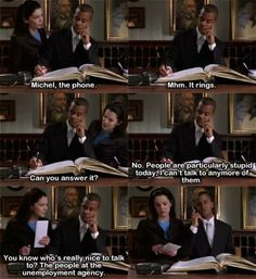 charming life pattern: gilmore girls - quote - Michel , the phone :)