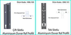 çift tek kanallı aluminyum mağaza profilleri