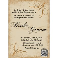 Love Blooms. Send a slideshow with every invitation! Customize your own wedding invitations, then upload as many pictures and music you want that turns into a slideshow that is attached to a qr code that is on every invitation!