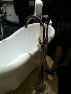 Stationary Tub Faucet : Brizo Faucet new free standing tub fills are fab! Many styles.