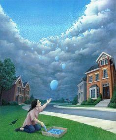 As incríveis ilusões ilustradas de Rob Gonsalves - Publicitários Criativos