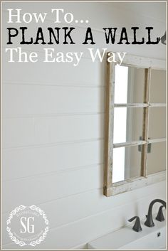 HOW TO PLANK A WALL THE EASY WAY-Cut, nail, paint-stonegableblog.com
