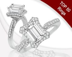 Item Details: SRR115825 R52/0.28CT 14KW 6.5X4.5EM  A diamond ring with a chic rectanglar shape twist. Crafted In 14k white gold, ring features 0.28cts round brilliant accent diamonds.  Center stone and wedding band each sold seperately.