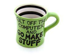 Coffee mug motivation
