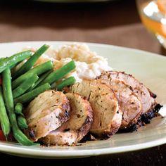 Mustard-and-Wine Pork Tenderloin | MyRecipes.com