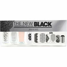 The New BlackMesh & Lace Nail Color & Accessories Set