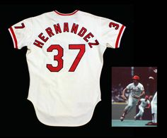 New to the Cardinals Museum collection, a 1979 Keith Hernandez game used home jersey.