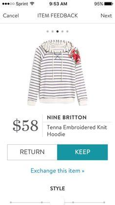 Nine Britton Tenna Embroidered Hoodie