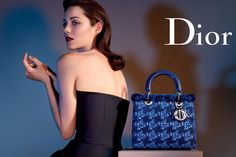 Elle News: Marion Cotillard Fronts Lady Dior Campaign; Ryan Gosling to Take a . Elle Marion Cotillard looks ethereal fronting her latest Lady Dior campaign, which is the first since Raf Simons took over the label. Marion Cotillard, Dior Handbags, New Handbags, Dior Bags, Chloe Handbags, Fashion Handbags, Miss Dior, Fashion Advertising, Advertising Campaign