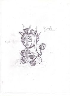 boceto de personaje se eligió algo tierno y a la vez que encaje con el proyecto desenfocándose al clásico foco como personaje