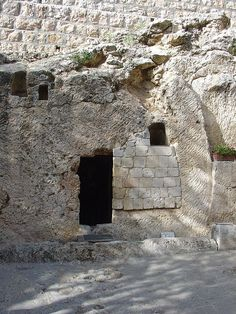 Possible site of Jesus Tomb - Garden Tomb, East Jerusalem.  This is what some protestant groups believe to be Jesus' tomb. This is believed to be where Joseph of Aramethea's Garden was located. It is run by the Anglican church.