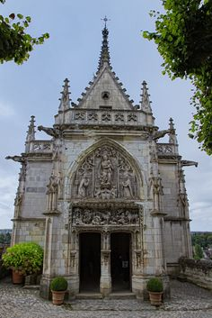 The 15th-century Chapel of Saint-Hubert at the royal Château at Amboise Amboise, France, where Leonardo Da Vinci is buried