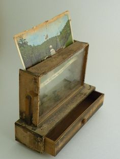 RETRO POSTCARD DISPLAY MINI CHEST 1950s Made in by PanamaBella