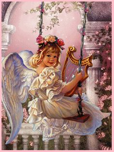 ❤️️Little Angel on a swing GIF Angel Protector, Creation Image, Animated Gifs, Images Gif, Angel Prayers, I Believe In Angels, Angel Pictures, Angels Among Us, Angels In Heaven