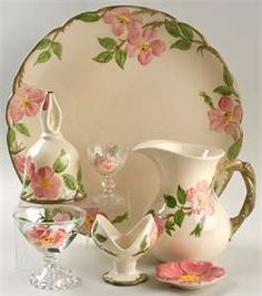 Fransiscan Desert Rose pattern vintage china....I have loved it since I was little.....Thanks to Grandma Alma and Great Aunt Minnie