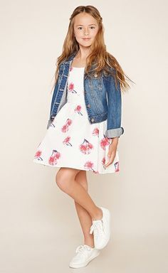 Denim + Floral = too cute